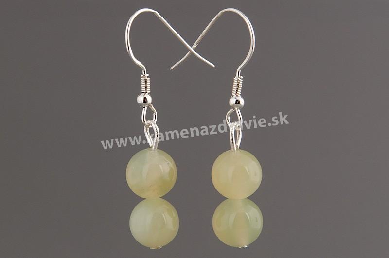 Náušnice guličkové - jadeit